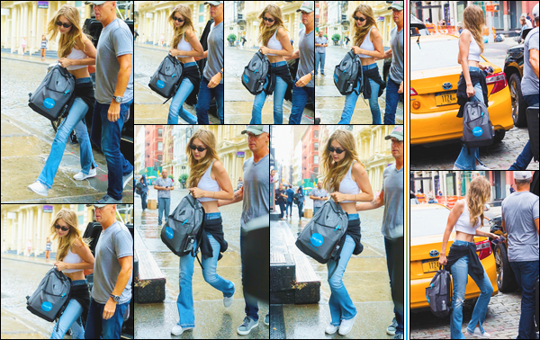 - Gigi Hadid a été photographiée arrivant à l'appartement de son cher petit-ami Zayn Malik (NY).• '-14/08/18-' C'est dans cette même tenue décontractée que notre mannequin a été vue à la sortie de l'appartement de Zayn un peu plus tard. Un top ! -