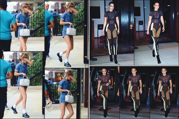 - Jelena Hadid a été aperçue lorsqu'elle venait de revenir à son appartement situé à Manhattan.• '-09/10/18-' Un peu plus tard, elle a été vue quittant ce dernier dans une toute autre tenue pour se rendre à l'anniversaire de sa soeur. Un top & bof. -