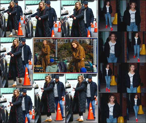 - ''•-08/03/19-' : Gigi Hadid a été aperçue étant sur le set d'un shooting photo pour: « Maybelline »,à New-York. C'est également dans les rues de New-York, puis le soir, à la sortie d'un studio que notre mannequin a été vue. Je lui accorde un bon top. -