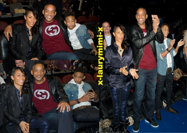 Jaden, Will Smith et Jada Pinkett Smith a un match