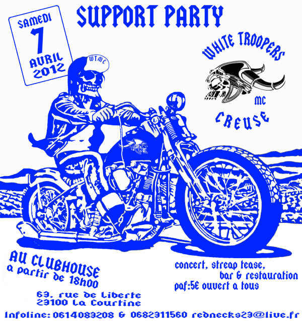 SUPPORT PARTY - WHITE TROOPERS M.C CREUSE