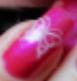 nail art rose avec papillon