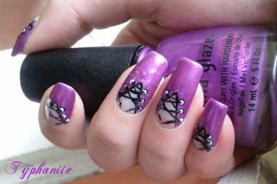 Corset violet