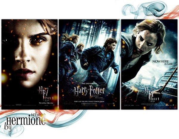 les posters de Hermione pour HP7
