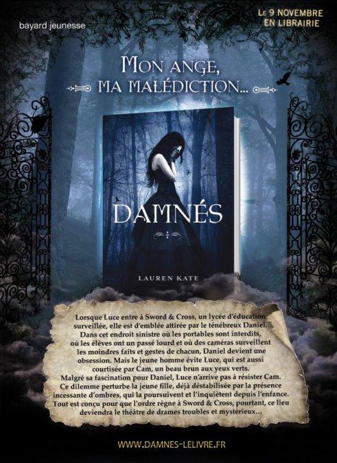 """Damnés - Lauren Kate """"Mon ange, ma malédiction."""""""