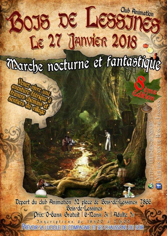 Marche nocturne et fantastique 27/01/18 Bois-de-Lessines (BELGIQUE)