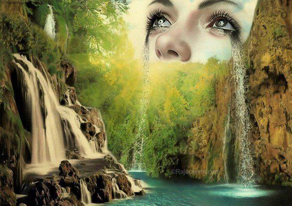 L'âme n'aurait pas d'arc en ciel si les yeux n'avaient pas de larmes
