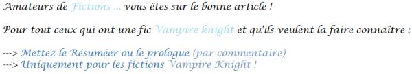 Fictions Vampire Knight Pub !