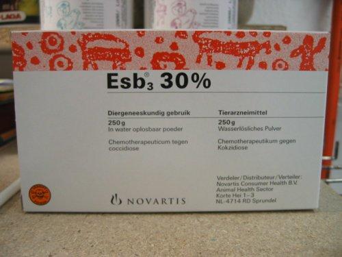 L'ESB 3 30% est un antibiotique à large spectre, contre la coccidiose.