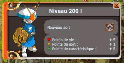 Le up final : lvl 200 !
