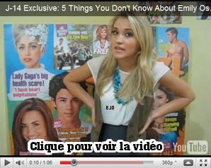 """_  Emily à dit pour le magazine """"J-14"""" 5 choses que ses fans ne savent pas sur elle . _"""