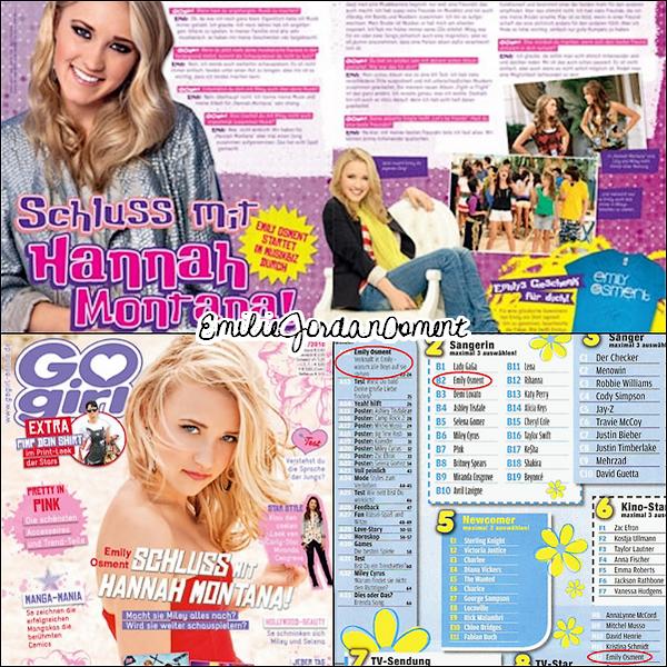 _  Scans d'Emily pour plusieurs magazines différents : Go Girl , Yeah , Bravo , Hey!  . . Vous aimez ces scans ? _