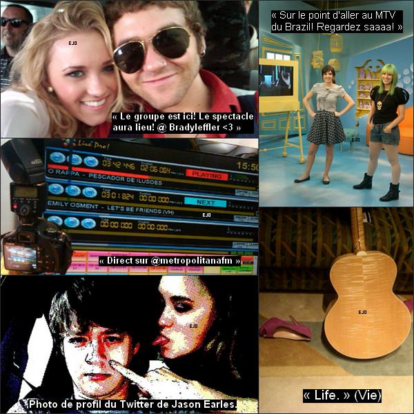 _  Emily à ajouté 5 photos sur son Twitter avec des messages que j'ai traduit en français ; découvrez les ci dessous . _