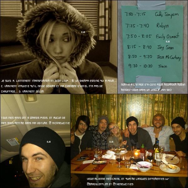 _  Photos postées sur le Twitter d'Emily avec les messages les accompagnants . _