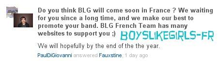 Une venue en France bientôt ? :)