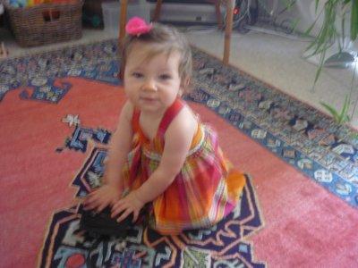 yaâra portant une robe faite par sa mamie