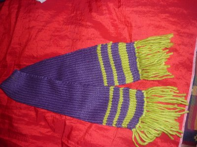 l'écharpe assortie