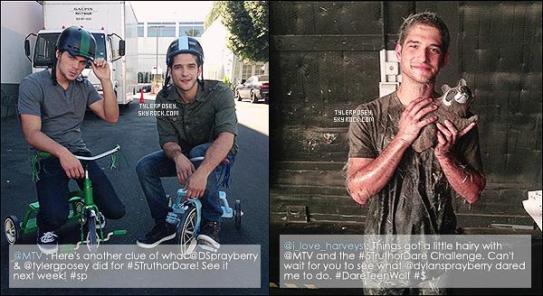 .• • Tyler et Dylan Sprayberry participent au challenge #5TruthorDare, organisé par la marque 5® Gum !