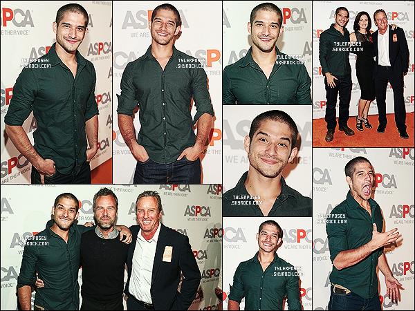 22/10/14 : Tyler était présent lors du gala annuel organisé par la ASPCA qui a eu lieu à Bel-Air en Californie ! Ce gala a lieu afin de récompenser les personnalités qui luttent pour la défense de la cause animale.