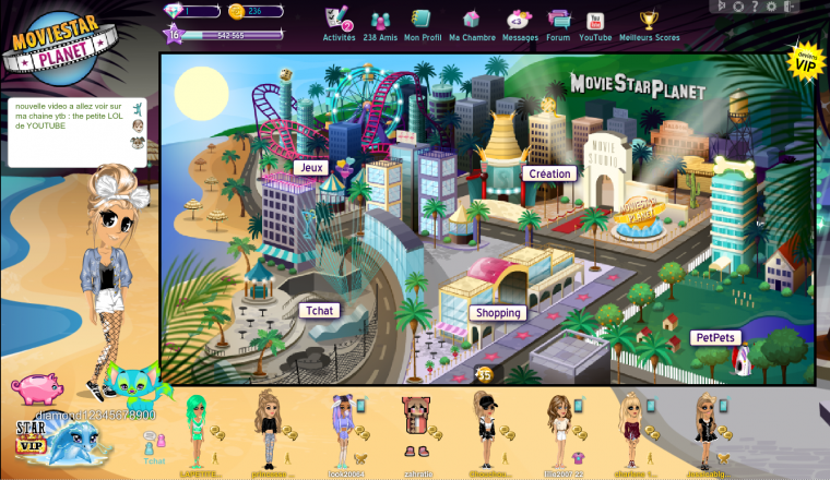 mon MovieStarPlanet :