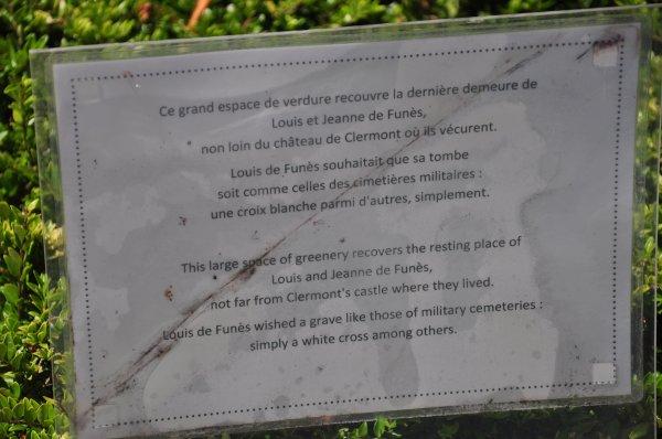 Mardi 02 juillet 2019 : Le Cellier (1) Tombe de Louis de Funès