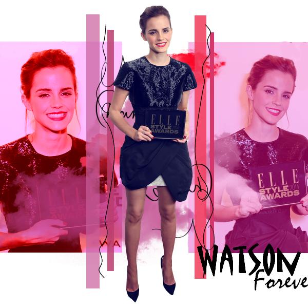 Fashion Event: Emma présente aux ELLE Style Award 2014, le 18 Février 2014.