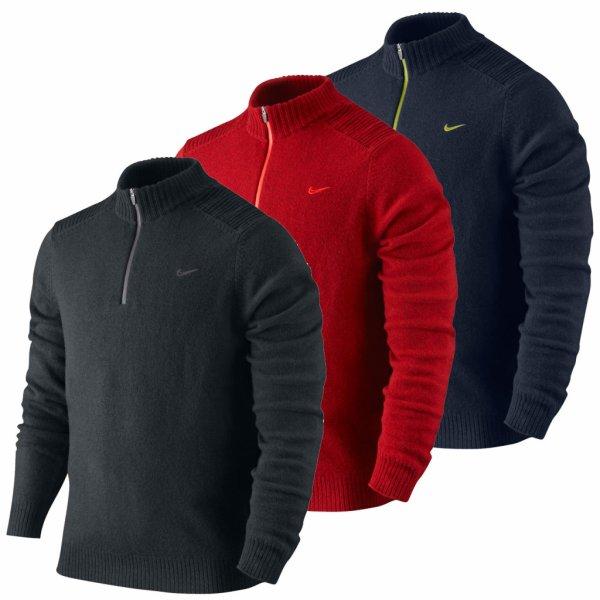 Pull Nike Golf Homme 2013 Laine d'Agneau Demi Fermeture