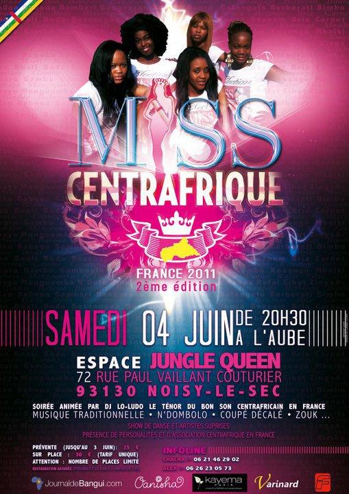 Samedi 4 juin 2011 Election Miss Centraffrique France