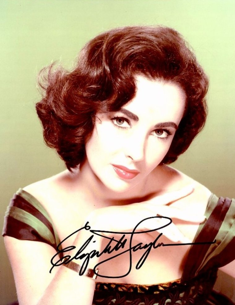 Elizabeth TAYLOR's autographs