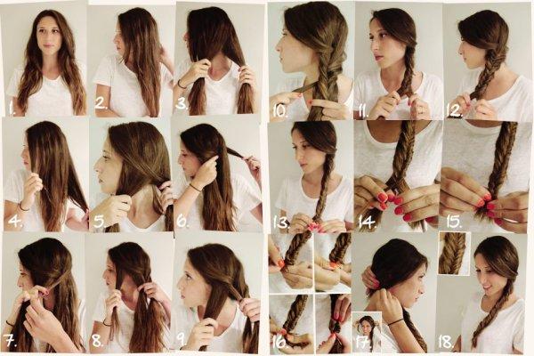 coiffure :N°1:tresse en epi de blé