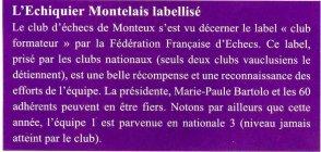 Club échec Monteux