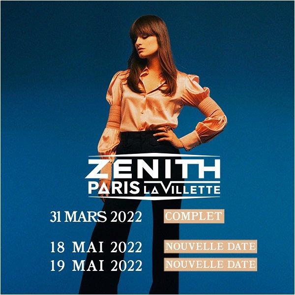 Clara Luciani ajoute des dates supplémentaires les 18 et 19 mai 2022 au Zénith de Paris (Le Zénith de Paris prévu le 31 mars 2022 est déjà complet).🤎