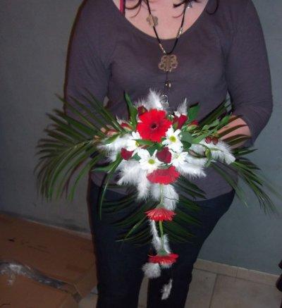 Bouquet de mariee plume