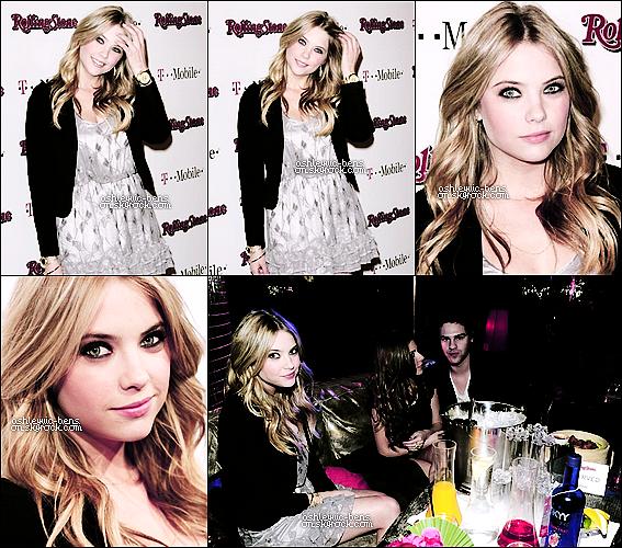 26/02/11 : Ashley était à une soirée organisée par le célèbre mag' « Rolling Stone  » !