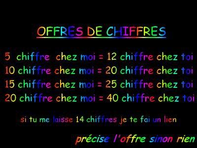 QUUE DES SHIFFRES ...