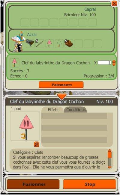 Réapprovisionnement Clefs Dragon Cochon