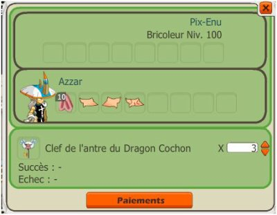 Commande Capture Dragon Cochon