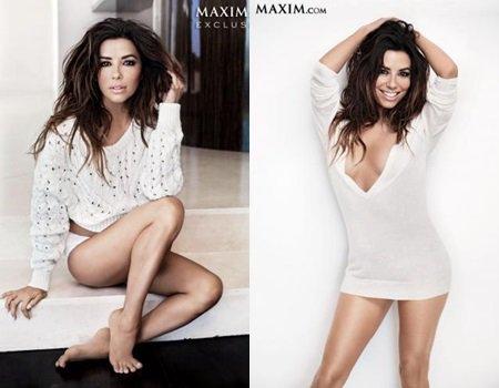 Eva Longoria, Maxim Magazine janvier/février 2014.