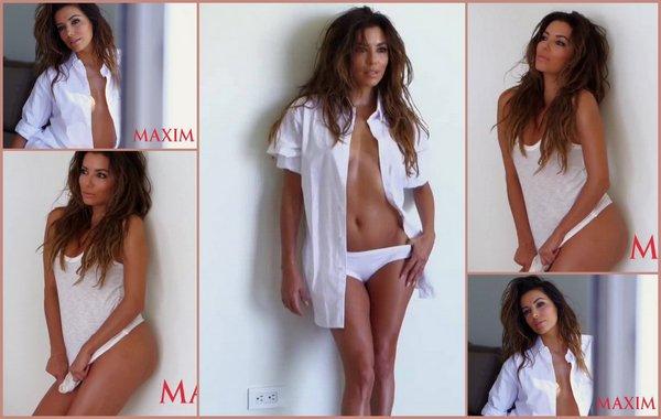 Eva Longoria . Maxim 2014