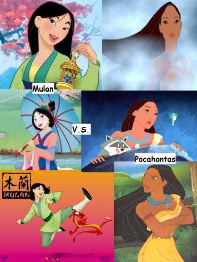 Mulan VS Pocahontas