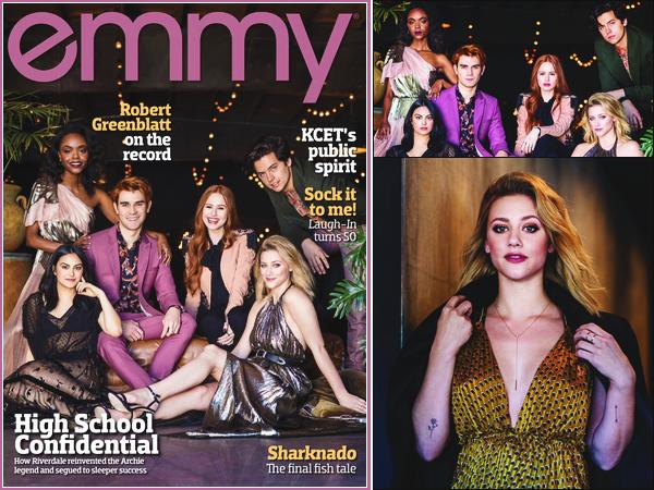 • Le cast de Riverdale fait la couverture du magazine « EMMY » à l'édition d'août 2018 !