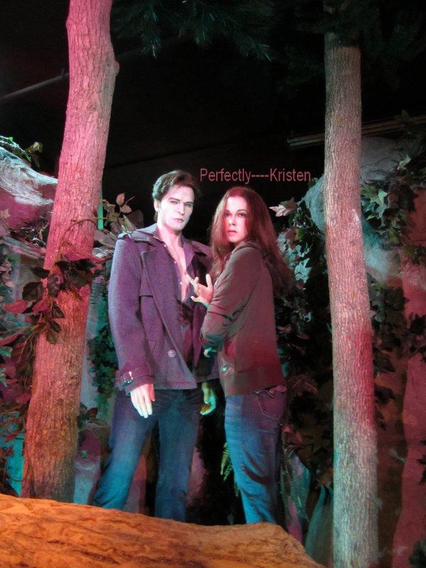 Robert & Kristen en statue de cire. Celles-ci sont exposées dans un musée qui se trouve au Canada.