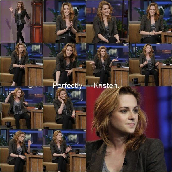 Kristen at the ''Jay Leno Show''. O8/1O/1O.
