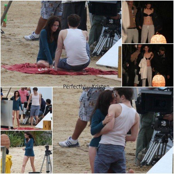 Encore & toujours sur le tournage du 4ème volet de la saga Twilight, dernier & très attendu !