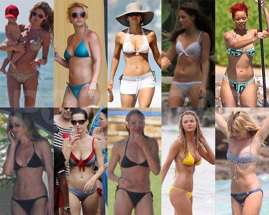 Quelle célébrité est la plus sexy en maillot de bain parmi Kristen, Rihanna,... etc?