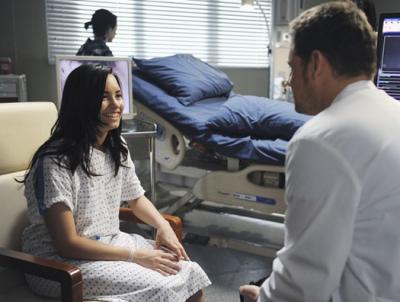 Démi et Justin Chambers( Alex ) dans grey's Anatomy