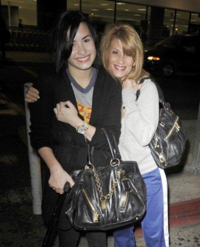 Demi et sa mère à Los Angeles