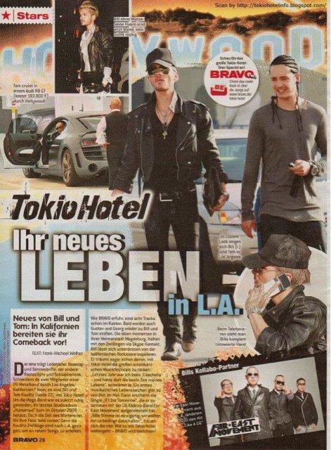 dans un magazine allemand