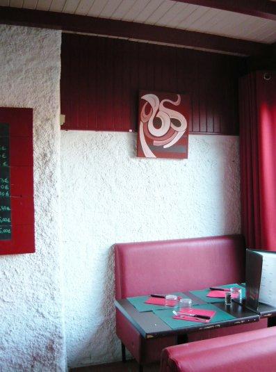 """expo-vente au resto-bar """"los piquillos"""" Toulouse 7 deniers"""