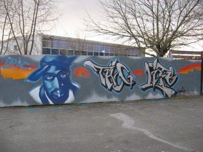 thug life fresque